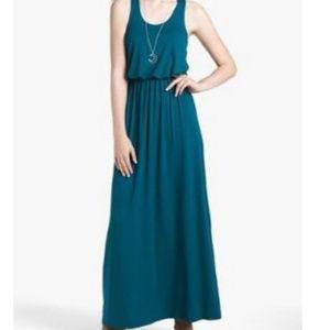 Lush Blue Green Sleeveless Maxi Dress